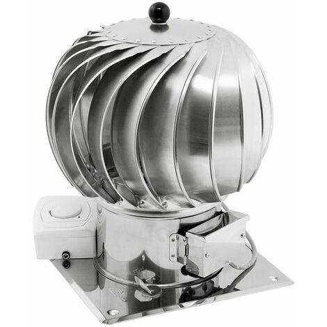 En acier inoxydable 200mm tournante tourne hybride Chapeau de cheminée moteur électrique toit en tôle supplémentaire