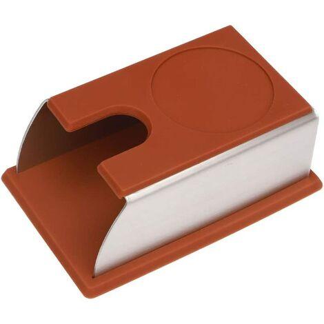 En acier inoxydable Accessoires de fabrication de café, en silicone brun, 5,9 x 3,9 x 2,5 pi Machine à café spécial noir de poudre de remplissage