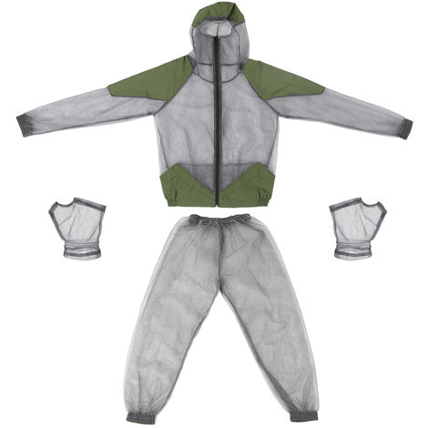 En Plein Air Pour Eloigner Les Moustiques Costume Bug Veste Costumes Mesh Hooded Veste D'Insectes, L