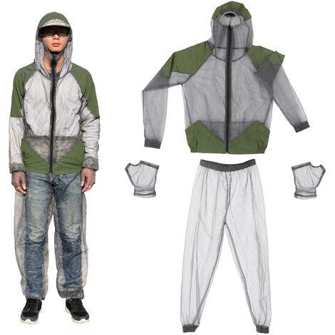 En Plein Air Pour Eloigner Les Moustiques Costume Bug Veste Costumes Mesh Hooded Veste D'Insectes, Xl