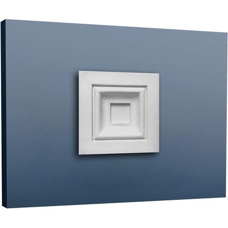 Encadrement de porte Orac Decor D200 LUXXUS Elément décoratif Plaque du coin avec relief classique | 9 x 9 cm