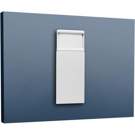 Encadrement de porte Orac Decor D310 LUXXUS Plinthe Profil de décoration Elément de stuc robust et anichoc 25 cm haut