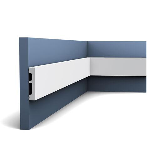 Encadrement de porte Orac Decor DX157-2300 AXXENT Corniche Plinthe Profil décoratif Protection de câble 2,30 m