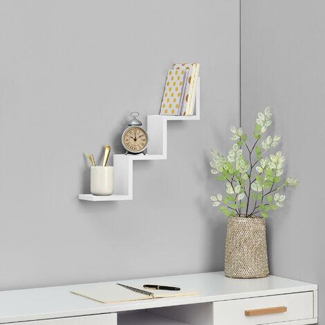 [en.casa] Estantería de pared gris oscuro mate diseño retro (60,9x19,5x19,5cm)