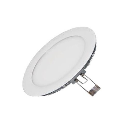 Encastré downlight LED 18W blanc Ø 225mm H12mm lumière froid 6000K 1500lm avec driver 230V 120° IP42 IDWATT IDRP18BFB