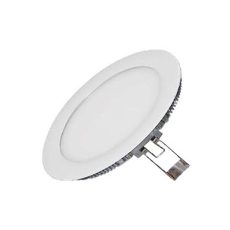 Encastré downlight LED 6W blanc Ø 120mm X12mm lumiere froid 6000K 480lm avec driver 230V 120° IP42 IDWATT IDRP6BFB