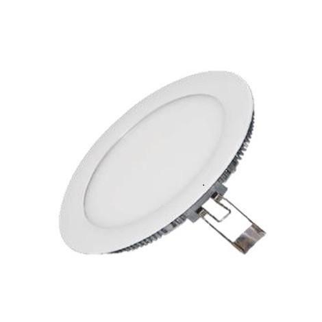 Encastré downlight LED 9W blanc Ø 145mm X12mm lumiere chaud 3000K 750lm avec driver 230V 120° IP42 IDWATT IDRP9BCB