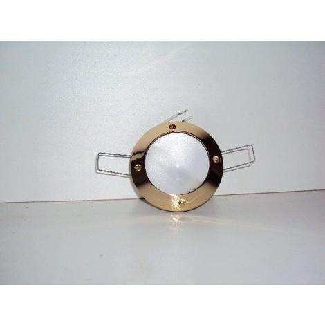 Encastré fixe étanche doré diam 86mm pour caps halogene GY6.35 max 50w NEPTE TRAJECTOIRE 113532