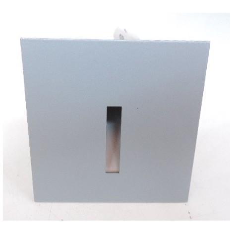 Encastré mural LED 1W carré alu 70X70mm 3300K 350mA DC sans driver 230V IP20 balisage INLET NS WW A DELTA LIGHT 3041812A