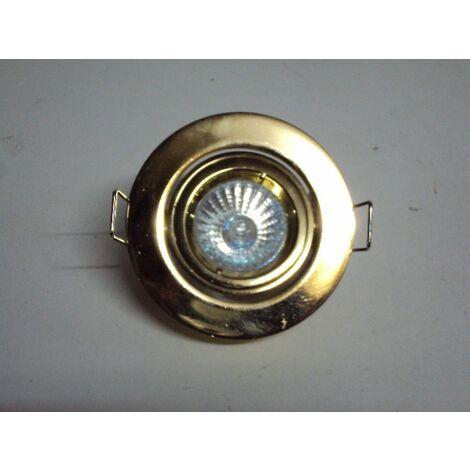Encastré orientable doré Ø 70mm DESERT MINI lampe dichro 35mm 35w G4 réf TRJ113132