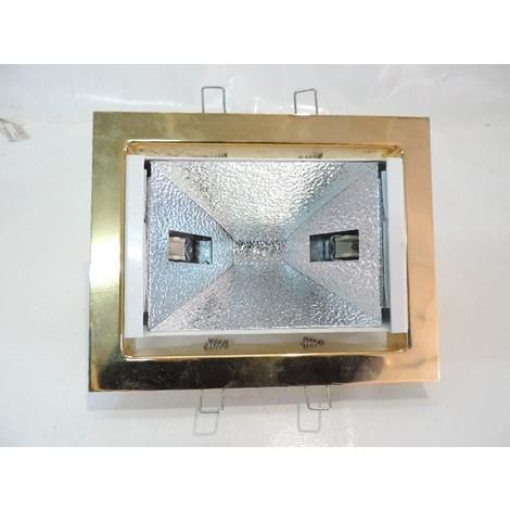 Encastré rectangle doré orientable 208X164mm pour lampe R7S- RX7S 150W max (culot ajustable) sans verre JIMMY ARTEMIDE 71103