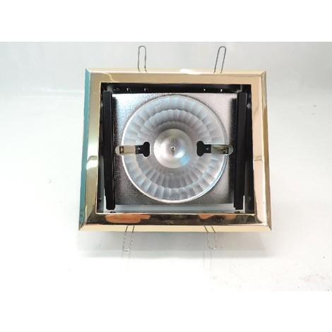 Encastré rectangulaire doré orientable 178X158mm pour lampe R7S 118mm sans verre de protection ARTEMIDE 50575