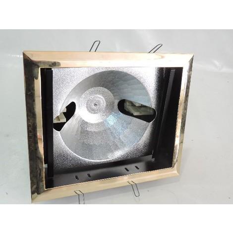 Encastré rectangulaire doré orientable 178X158mm pour lampe R7S 118mm sans verre de protection ARTEMIDE 50775