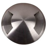 Encastré sol Fusion 2 sorties LED 3x1W Argent - GARDEN ZONE -