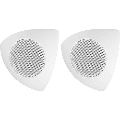 Enceinte dangle Monacor MKS-48/WS blanc 30 W 1 paire(s)