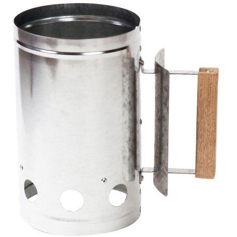 Encendedor de barbacoa de acero galvanizado de 27x28x17 cm