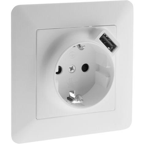 Enchufe con cargador USB 2,4A & 16A (schuko) - Artezo
