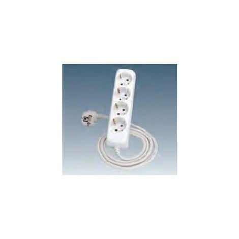 Enchufe cuadruple TT lateral + Conexión