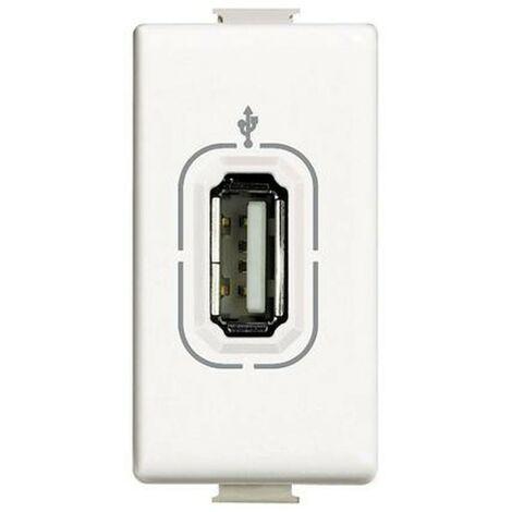 Enchufe el conector USB Bticino Matix blanco de la serie AM4285