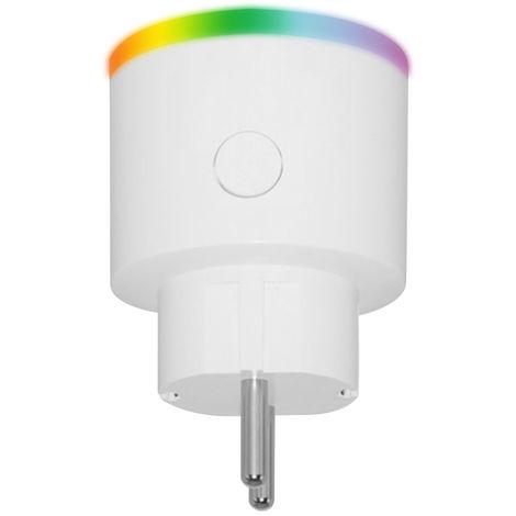 Enchufe inteligente con control remoto Wi-Fi, con indicador LED, 1 piezas