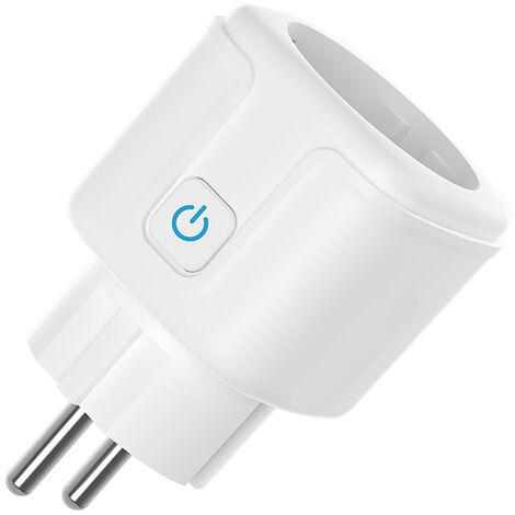 Enchufe Inteligente WiFi BLUYA 16A 3300W Mini Smart Plug Funciona con Amazon Alexa, Echo, Google Home, No se requiere Hub, Función de Temporizador, con Control Aplicaciones en Cualquier lugar