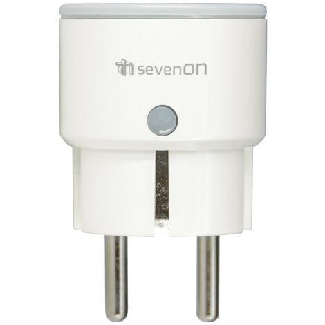 Enchufe Inteligente WiFi Compacto control vía Smartphone/APP 7hSevenOn Home