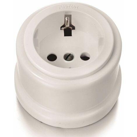 Enchufe plástico 2P+TT blanco Fontini Garby 30-204-17-2