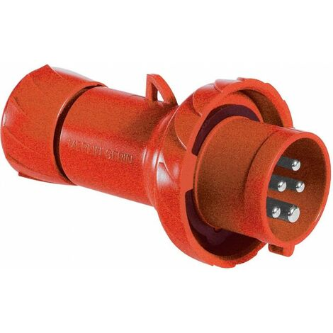 Enchufe Schneider industrial móvil 3X16A+TN 400V IP67 rojo PKX16M735
