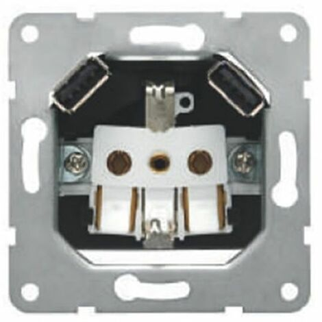 Enchufe schuko con USB doble BJC 18524-USB series Iris y Mega