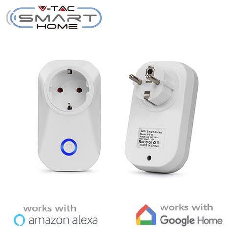 Enchufe V-TAC Smart Home WIFI IP20 compatible con Amazon Alexa y Google Home
