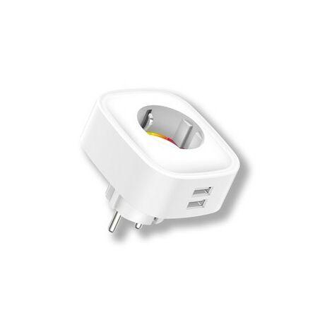 Enchufe Wifi Energeeks Pl Bl 2Usb Eg-Ew005Mc