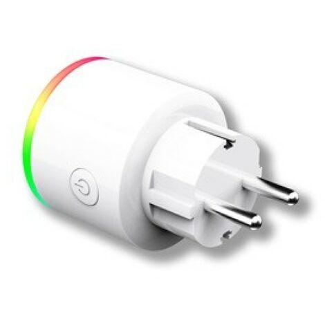 Enchufe wifi intel. energeeks pl bl con luz multicolor eg-ew