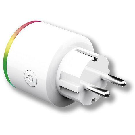 Enchufe Wifi Inteligente Con Luz De Noche Multicolor Y Medidor De Consumo Energeeks