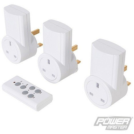 Enchufes inalámbricos con control remoto. 230 V. 3 pzas (13 A. 230 V. RU)