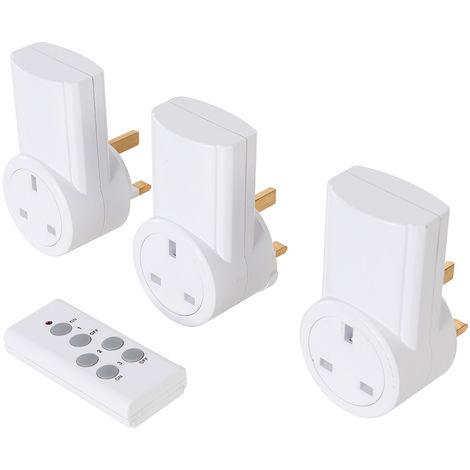 Enchufes inalámbricos con control remoto, 230 V, 3 pzas 13 A, 230 V, RU - NEOFERR