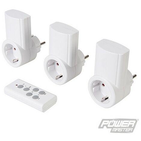 Enchufes inalámbricos con control remoto. 230 V. 3 pzas (13 A. 230 V. UE)