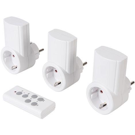 Enchufes inalámbricos con control remoto, 230 V, 3 pzas 13 A, 230 V, UE - NEOFERR