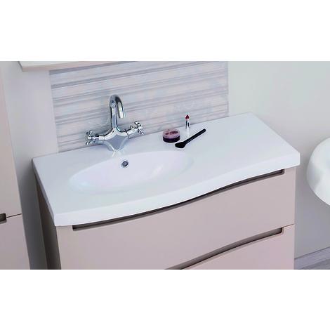 Encimera de resina blanca para el mueble Italo 90 - Aqua +