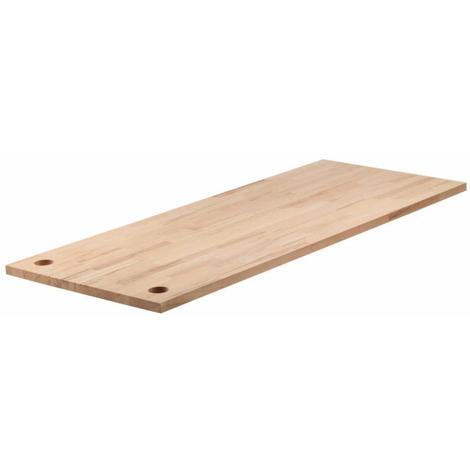 Encimera en madera de haya talla L 161x65x3 cm Wolfcraft