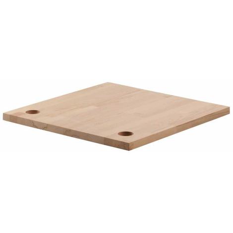 Encimera en madera haya talla S 65x65x3 cm Wolfcraft
