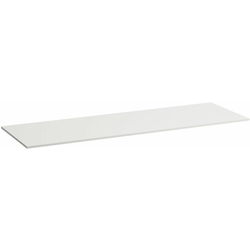Encimera lavabo Space, con hueco a la izquierda, 1580x520x13, color: Nieve blanco mate - H4110511601001 - Laufen
