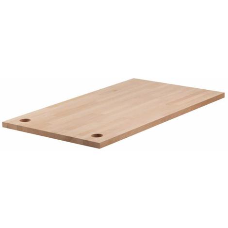 Encimera madera de haya talla M 113x65x3 cm Wolfcraft