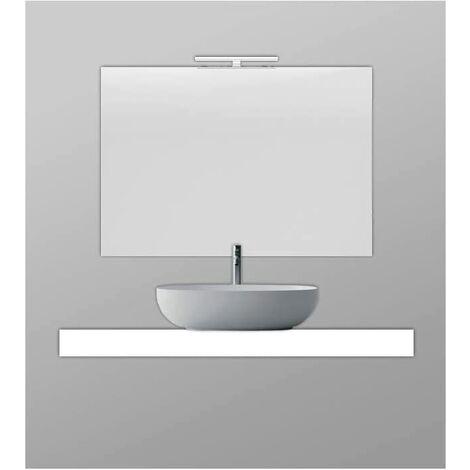 Encimera para baño con Faldón de 10 cm SOLID SURFACE de resina con carga mineral varios colores disponibles