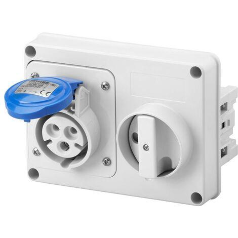 Enclavamiento del interruptor enchufe Gewiss 2P+T 16A IP44 220V sin caja GW66104