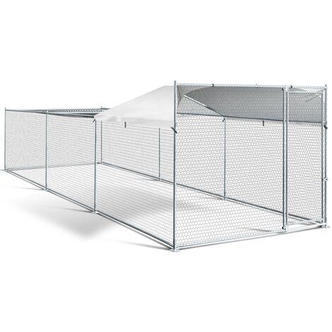 Enclos BOGOTA 12 m² parc grillagé 2 x 6 x 1.6 M acier galvanisé avec filet
