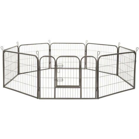 Enclos cage pour chien modulable 60 cm gris - Gris