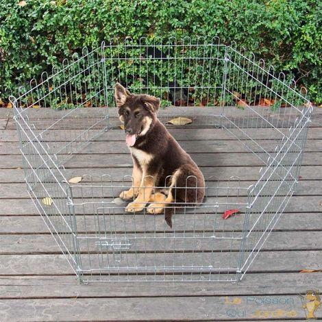 Enclos extérieur 80 X 75 cm ou parc de jardin pour chiens et chiots