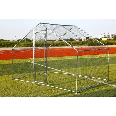 Enclos extérieur Poulailler 3x6 m Enclos cage à poulet