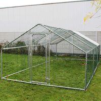 Enclos extérieur Volière Poulailler Clapier de lapin Petite cage pour animaux 2x3x2m Auvent