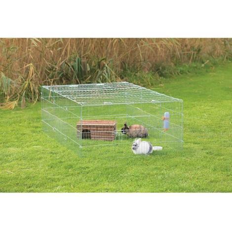 Enclos galvanise Natura - 180 x 60 x 116 cm - Avec couverture - Pour lapin Trixie
